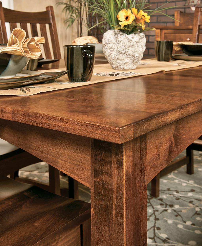 Heidi Leg Table Amish Direct Furniture, Amish Dining Room Tables